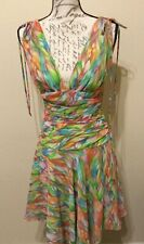 A.B.S by Allen Schwartz Multi Color Floral Party Dress Sz 4