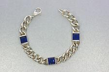 925er Silber armband alt m Sodalithkristall Lang 17,5 Breit 8,7 mm Stark 4,5 mm
