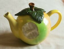 Sunshine Ceramics of Exmouth, Teapot, Apple With Bite, by Paul Cardew, 1986