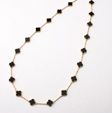 Onyx Clover necklace