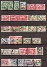 Fiji 1938-55 SG 249/66B & elencate tutte le sfumature sottili Usato Cat £ 224.50