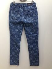 Sportscraft sz 6 Blue Floral Print Thea Ankle Slim High Rise Jeans AS NEW