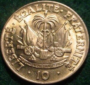 HI GRADE BU 1958 10 CENTIMES HAITI**SUPERB DETAILED COIN