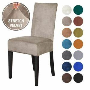 Velvet Chair Cover Spandex Elastic Chair Slipcover Dining Room Covers Seat Case