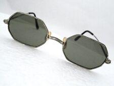 Antique Polygon Sunglasses Japan Vintage Hippy Beatnik Hipster w/ Case