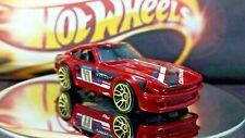 Hot Wheels Datsun 240Z Dark Red Black Interiors Tint Windows 1/64 loose Racing