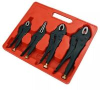 NEW 4 PIECE HEAVY DUTY GRIP WRENCH SET VICE LOCKING LOCK PLIERS MOLE GRIPS PLIER
