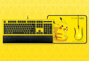 RAZER Pokテゥmon pokemon Pikachu Special Edition Gaming Mouse Keyboard Set
