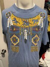 Vintage Diamond Dust Native American Indian Tribal Mens T Shirt Extra Large XL