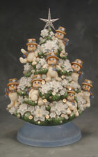 Ceramic Bisque Ready to Paint Snowman Tree with electric kit,  lights and star