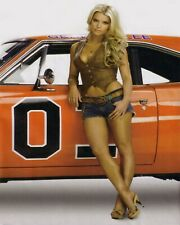 Daisy Duke Rebel 1969 Charger General  Pin up Girl Man Cave Decor 8x10 Jessica