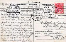Genealogy Postcard - Ancestor History - ?acher or ?aches - London N.W.  U2433