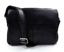 Borsello porta tablet borsa messenger pelle uomo donna con tracolla nero b804146e842