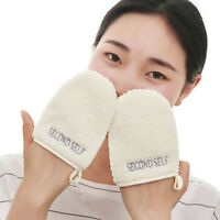 Microfiber Facial Cloth Face Towel Makeup Remover Cleansing Glove ToolB Js