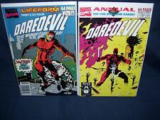 Daredevil Comic Lot Annuals #6 and #7 Marvel Comics with Bag and Board