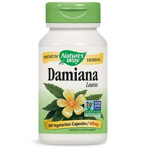 NATURES WAY - Damiana Leaves 400 mg - 100 Capsules