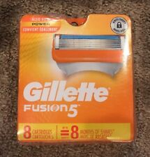 Gillette Fusion 5 Blades 8 Cartridges AUTHENTIC BLADES  FREE SHIPPING