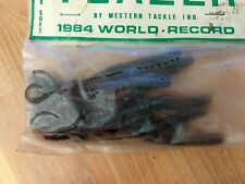 """TEAZER Vintage Super Soft 3.75"""" Worm NEW Red Bass Plastic Fishing Lures"""