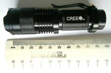 New Mini CREE  Flashlight Torch Light 3 Mode 7W Q5 LED Zoomable Zoom Lamp UK