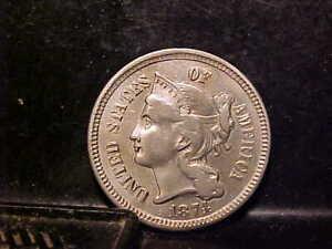 1874 3 CENT NICKEL  UNCIRCULATED