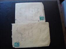 FRANCE - 2 enveloppes 1878/1880 (timbre yvert et tellier n° 75 tout etat) (B16)