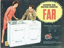 Publicité Advertising  1959   la cuisinière bloc  mixte Far charbon gaz