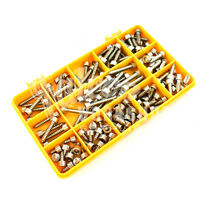 125 ASSORTED 14g A2 STAINLESS DIN912 SOCKET CAP SELF TAPPING SCREW TAPPER KIT