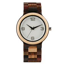 Luxury Modern Natural Wood Men Sport Quartz Wrist Watch Father Day's Gift