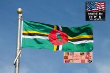 Dominica 3x5 Foot Heavy Duty Super-Poly Indoor/Outdoor Flag Banner*Usa Made