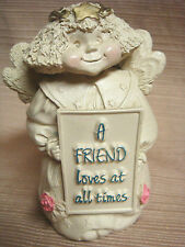 "Adorable Cold Cast ANGEL / CHERUB by Abby Press ""A Friend Loves at All Times"""