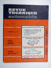 PEUGEOT 204 / VÉHICULES UTILITAIRES - Revue Technique Automobile N°254 - Juin 67