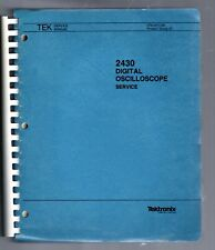Tektronix Service Manual for the 2430 Digital Oscilloscope