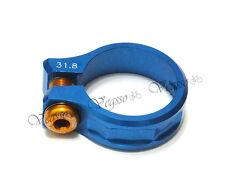 NEW KCNC SC11 SEATPOST CLAMP 31.8MM ROAD MTB AL7075, BLUE