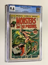 Monsters on the Prowl 16 cgc 9.6 ow/w pages 2nd kull the conqueror marvel 1972
