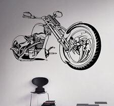 Motorcycle Vinyl Decal Bike Chopper Vinyl Stickers Home Interior Garage Decor 4