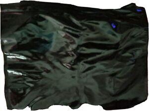 Lackleder Stretch Stoff Meterware schwarz 140x160 cm neu