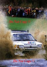 Juha Kankkunen Peugeot 205 Turbo 16 E2 RAC Rally 1986 Photograph 1