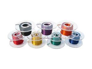 Enamelled Copper Wire Lackdraht Cu - 0.0039in 7 Colors Reel Per 32 10/12ft Set
