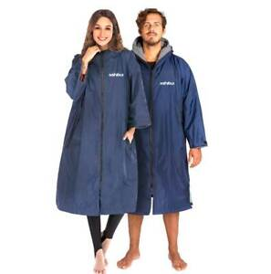 Shibui All Weather Waterproof Changing Surf Robe Blue / Grey Men & Womens
