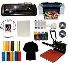 "15""x15"" Heat Press,13"" Vinyl Cutter Plotter,Printer,CISS,Decal,PU Vinyl,Stickers"