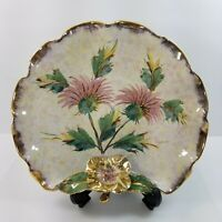 Vintage Pauls Italian Hand Painted Art Pottery Dish Plate Numbered Signed