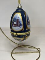 Valerie Parr Musical Mr. Christmas Holiday Tree Egg Ornament With Stand  2007