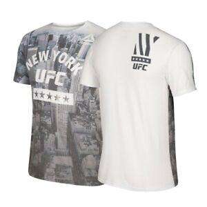 Reebok UFC Men's White UFC 205 New York City Weigh-In Dual-Blend T-Shirt