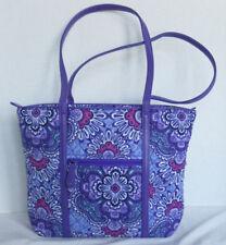 Vera Bradley Lilac Tapestry Small Trimmed Vera Tote Bag Handbag Purse 14300