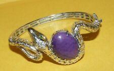 "rquoise~""Snake""~ Hinged~Bangle~Bracelet~ ~""925""~Sterling ~Diamond~Emerald~Purple~Tu"