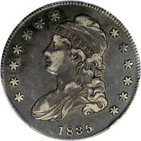 1835 50C PCGS / CAC VF35 CAPPED BUST ~ BEAUTIFUL LUSTROUS ORIGINAL PQ PIECE!
