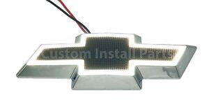 LED Front Grille Rear Bowtie Black Emblem Badge Light Up Fits Monte Carlo/Impala