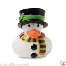 12 x Christmas Snowman Rubber Ducks Secret Santa Xmas Duck Stocking Fillers UK
