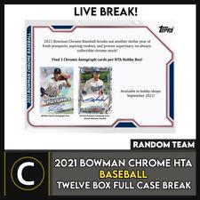 2021 BOWMAN CHROME Hta béisbol 12 Caja (completo Funda) romper #A1228 - equipos al azar