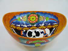 "18"" TALAVERA SINK  oval vessel,  mexican handmade ceramic,  bathroom,  folk art"
